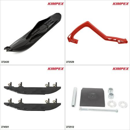 Kimpex - Ski Stealth Kit - Black, Arctic Cat Panther 440 1997-02 Black / Red