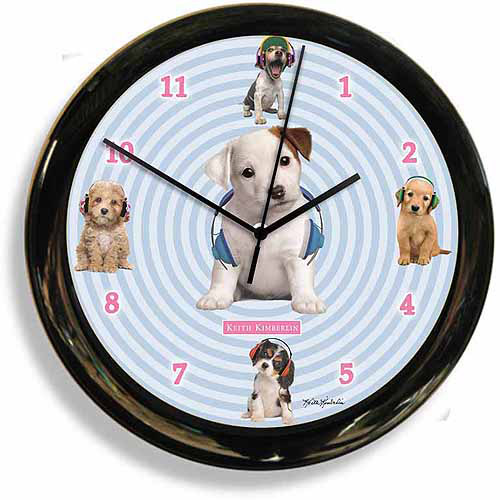 California Clock Headphones Dog