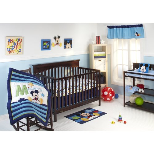 Disney My Friend Mickey 4 Piece Crib Bedding Set
