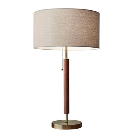 Adesso 3376 15 hamilton 26 inch 100 watt walnut and for 100 watt table lamps
