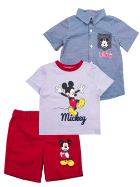 adad8d5f70dc5 Product Image Button-up Top, T-shirt & Shorts, 3pc Outfit Set (Baby