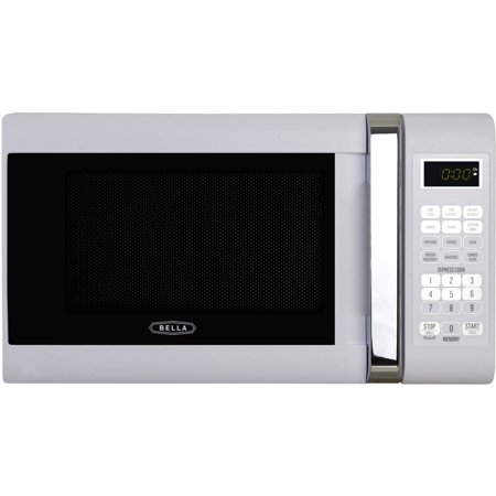 Bella Bmo07aptwha 0 7 Cubic Foot 700 Watt Microwave Oven  White With Chrome Handle