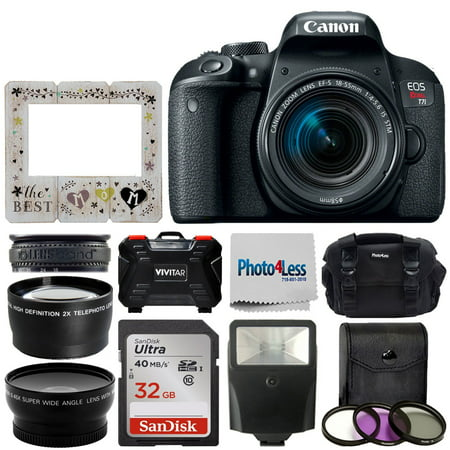Canon EOS T7i DSLR Camera with 18-55mm STM + 32GB Best Mom