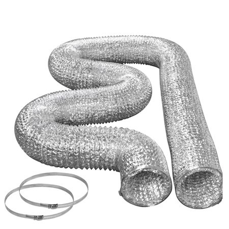 Foil Dryer Vent Hose Kit with Metal Clamps 4