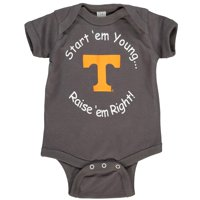 Tennessee Volunteers Newborn & Infant Start 'Em Young Bodysuit - Charcoal