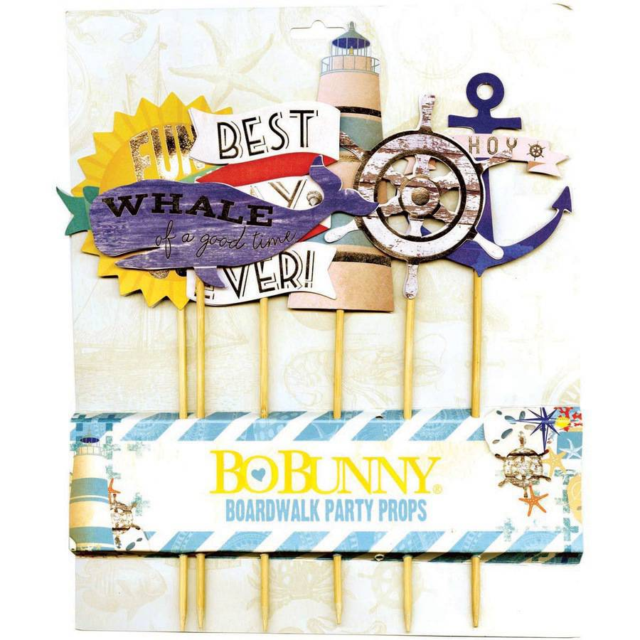 Boardwalk Party Props, 6pk, with Silver Foil Accents