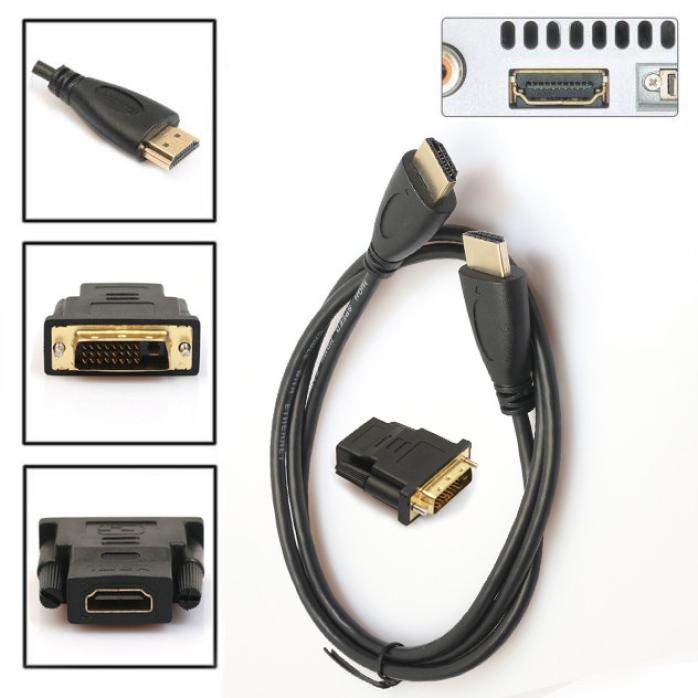 DZT1968 0.5M HDMI to DVI-D Monitor Display Adapter Cable Male Gold HD HDTV
