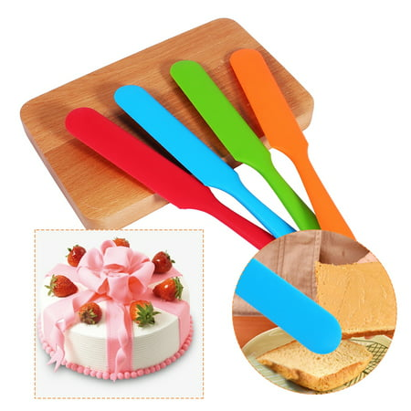 Kitchen Cake Cream Butter Spatula Mixing Batter Scraper Brush Handle Silicone Baking Cook Tool, Cooking,Spatula