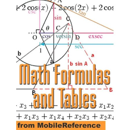 Math Formulas And Tables: Algebra, Trigonometry, Geometry, Linear Algebra, Calculus, Statistics. Tables Of Integrals, Identities, Transforms & More (Mobi Study Guides) - eBook ()