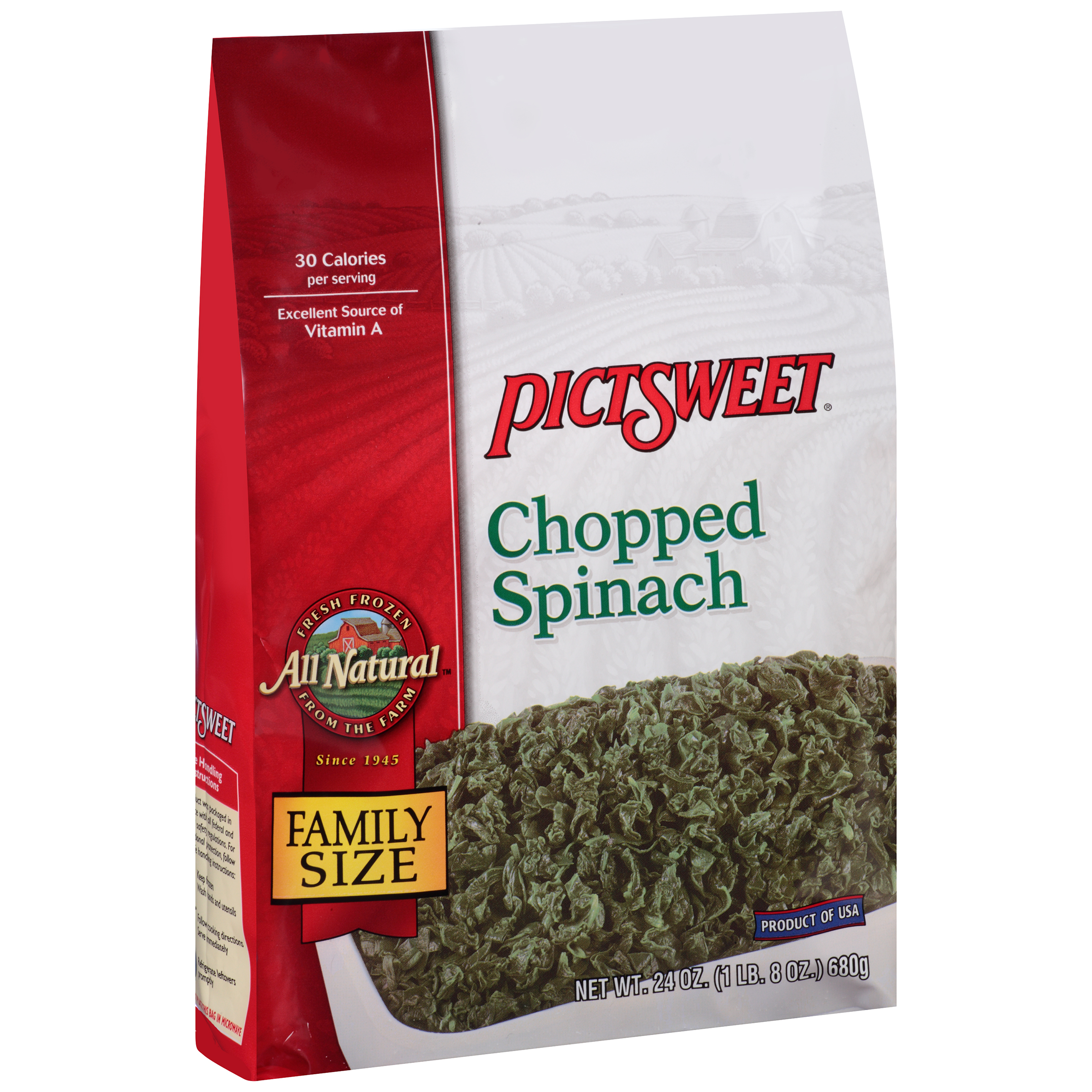 Pictsweet Farms�� Simple Harvest Chopped Spinach 24 oz. Bag