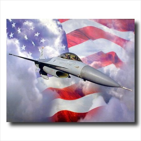 F-16A Fighting Falcon Jet Aircraft Wall Picture Art Print - F-16a Fighting Falcon