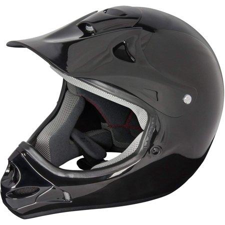 Raiders Helmet (Raider 55-564-13 Rush Adult MX Off-Road Helmet, Gloss Black)