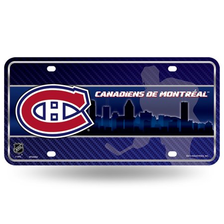 Montreal Canadiens Metal License Plate - image 1 de 1