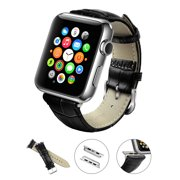 Apple Watch Band, LoHi Watch Strap Replacement with Metal Clasp for iWatch 42mm Black