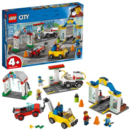 LEGO City Garage Center 60232 Toy Vehicle Building Kit for Kids (234 (Building A Safe Room In Your Garage)