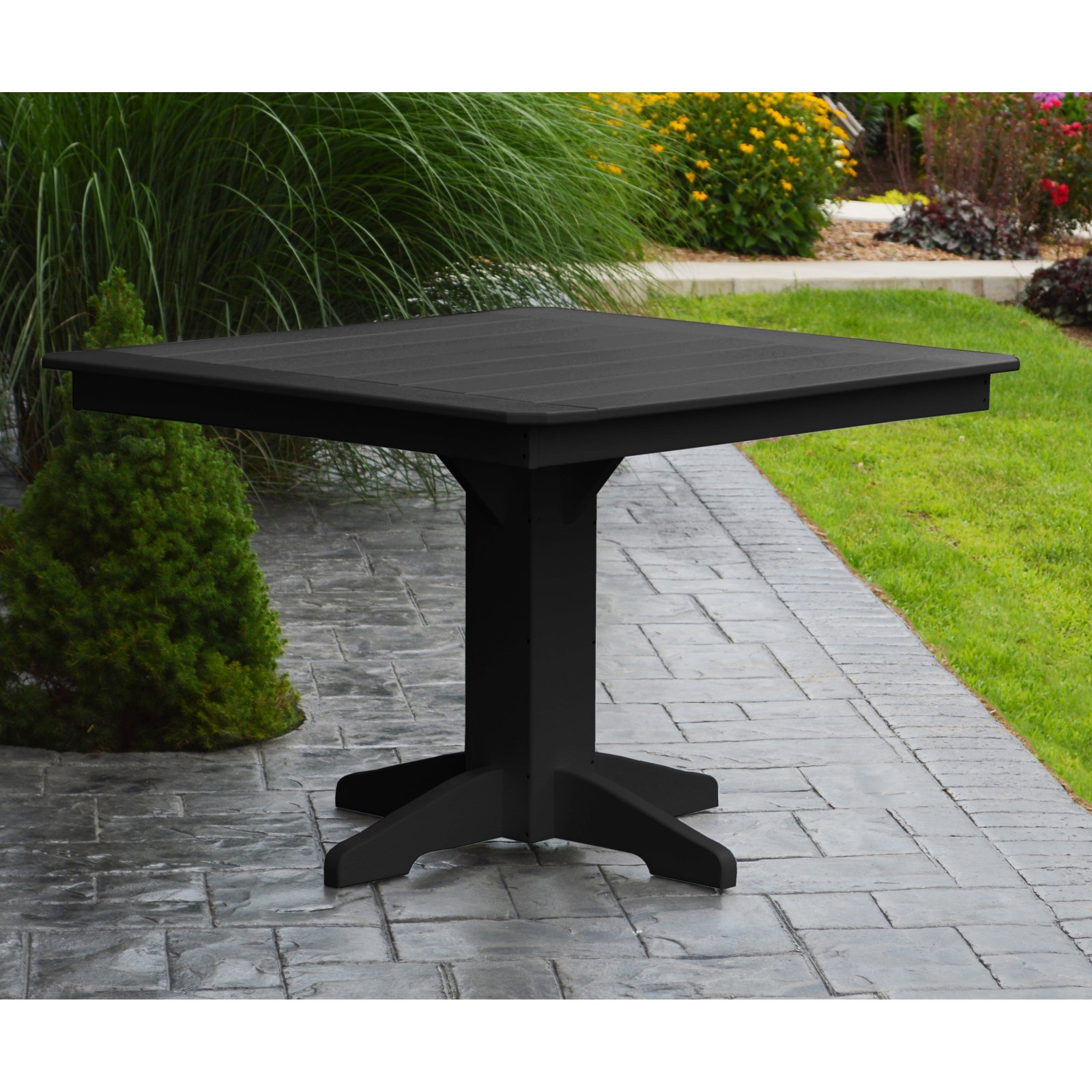 Radionic Hi Tech Newport Recycled Plastic Square Bar Height Patio
