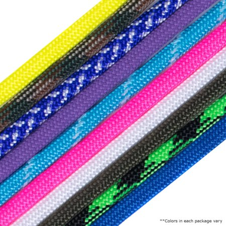 Paracord Planet 550lb Paracord Kit - Accent Cord for Crafting Bracelets, Lanyards, Key Chains, Shoelaces, and more - 10 Different Colors Each 5 feet to 8 feet of Accent (Making A Duck Call Lanyard Using Paracord)