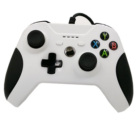 Reytid  Xbox One Wired Controller   White   Slim Gaming Pad   Pc Microsoft Game