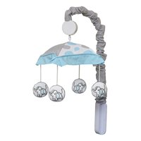 GEENNY Musical Mobile, Blizzard Blue Grey Elephant