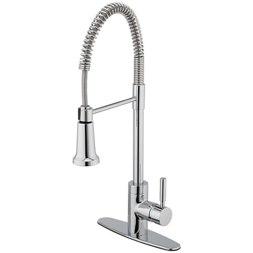 Estora 15-51121 Single Handle Kitchen Faucet with Pull Down Spray from the Forza