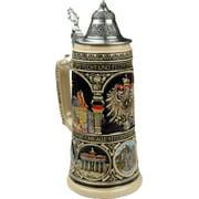Beer Mug by King Old Heritage CoA and Landmarks Relief Colored Beer Stein (Beer Mug) 0.75l Limited by King Werke Germany