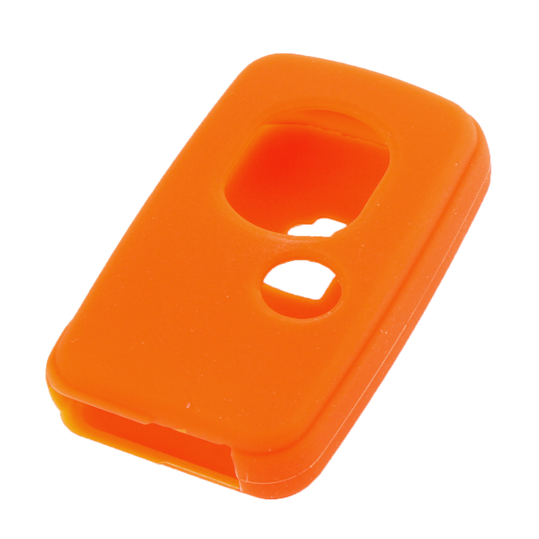 Unique Bargains Soft Silicone Vehicles Key Case Cover Shell Orange for