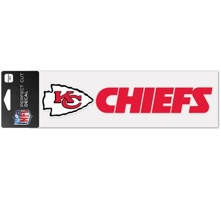 Kansas City Chiefs 3 X10  Perfect Cut Car Auto Decal Sticker