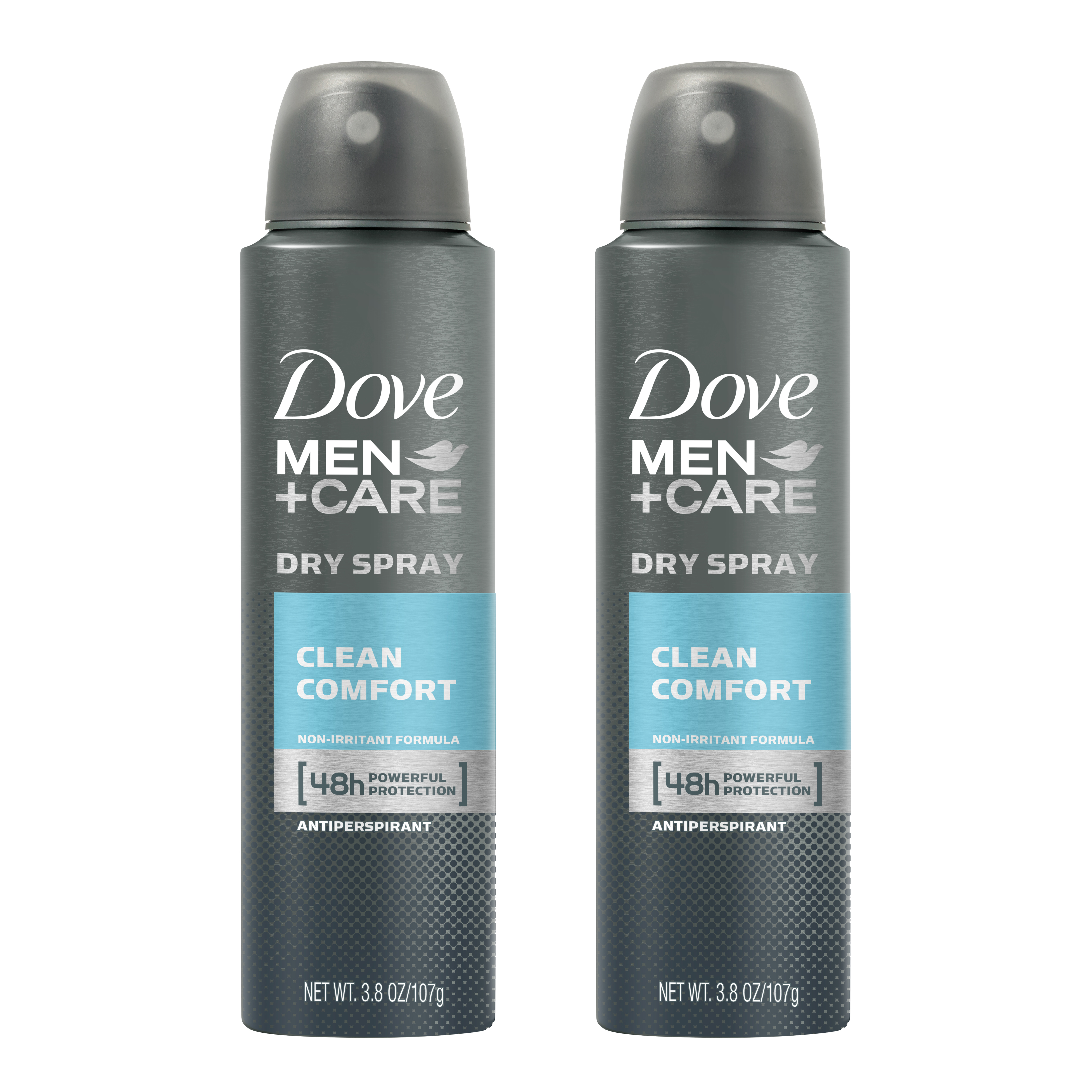 2 Pack Dove Men Care Dry Spray Antiperspirant Deodorant Clean Comfort 3 8 Oz Walmart Com Walmart Com
