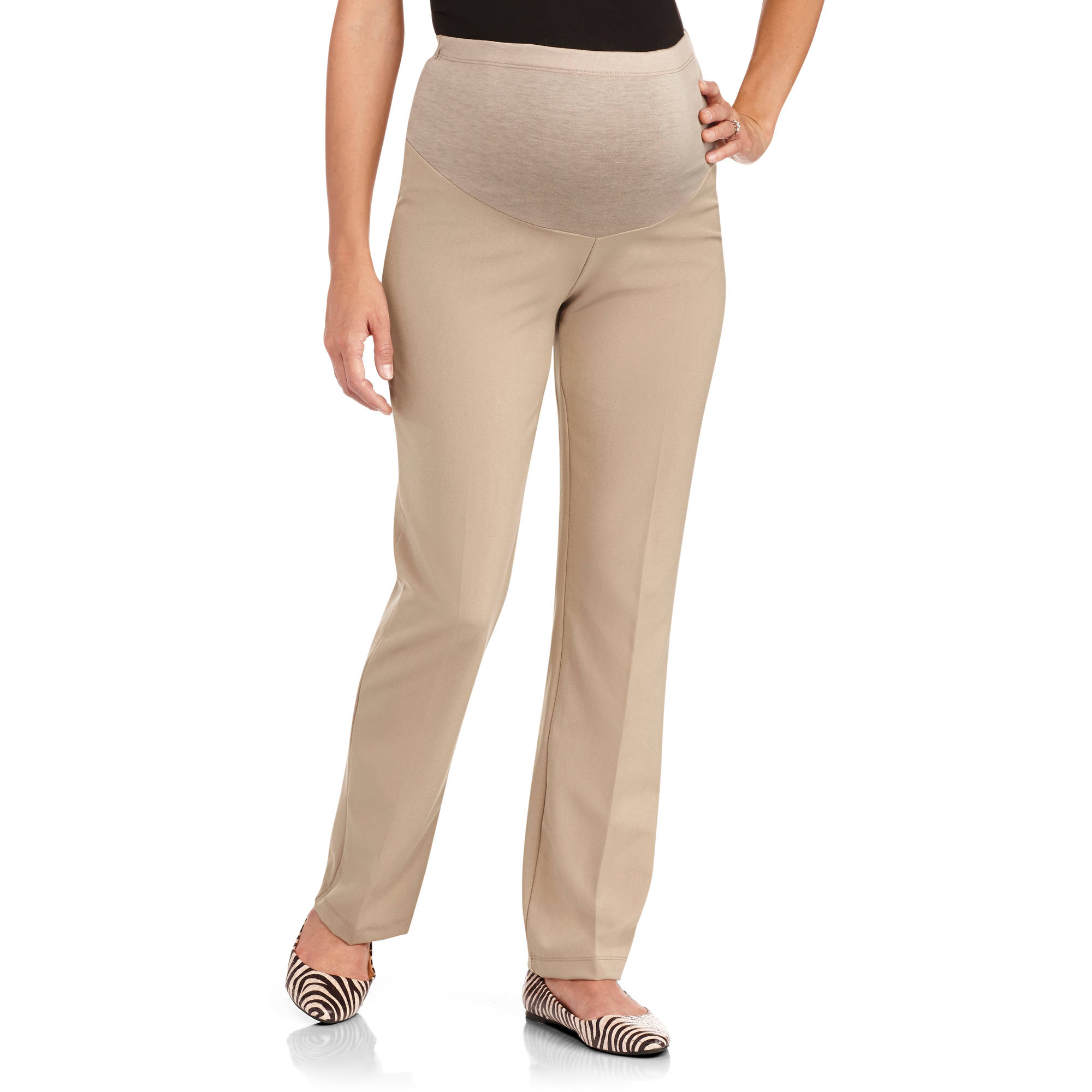 Planet Motherhood Maternity Full-Panel Classic Career Pants