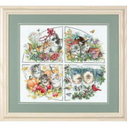 Dimensions Gold Collection Counted Cross-Stitch Kit, Four Seasons Kittens