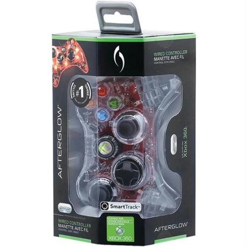 Afterglow Xbox 360 Black, Red, Green Controller