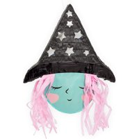 Small Witch Pinata for Halloween (13 x 15.5 x 3 Inches)
