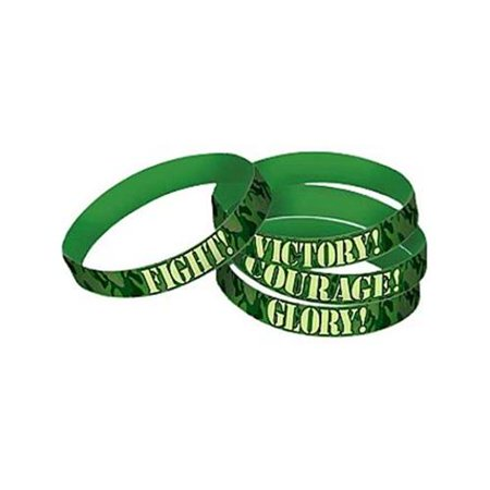 Army Camo Rubber Favor Bracelets (4 Pack) - Party Supplies - Camoflage Party Supplies