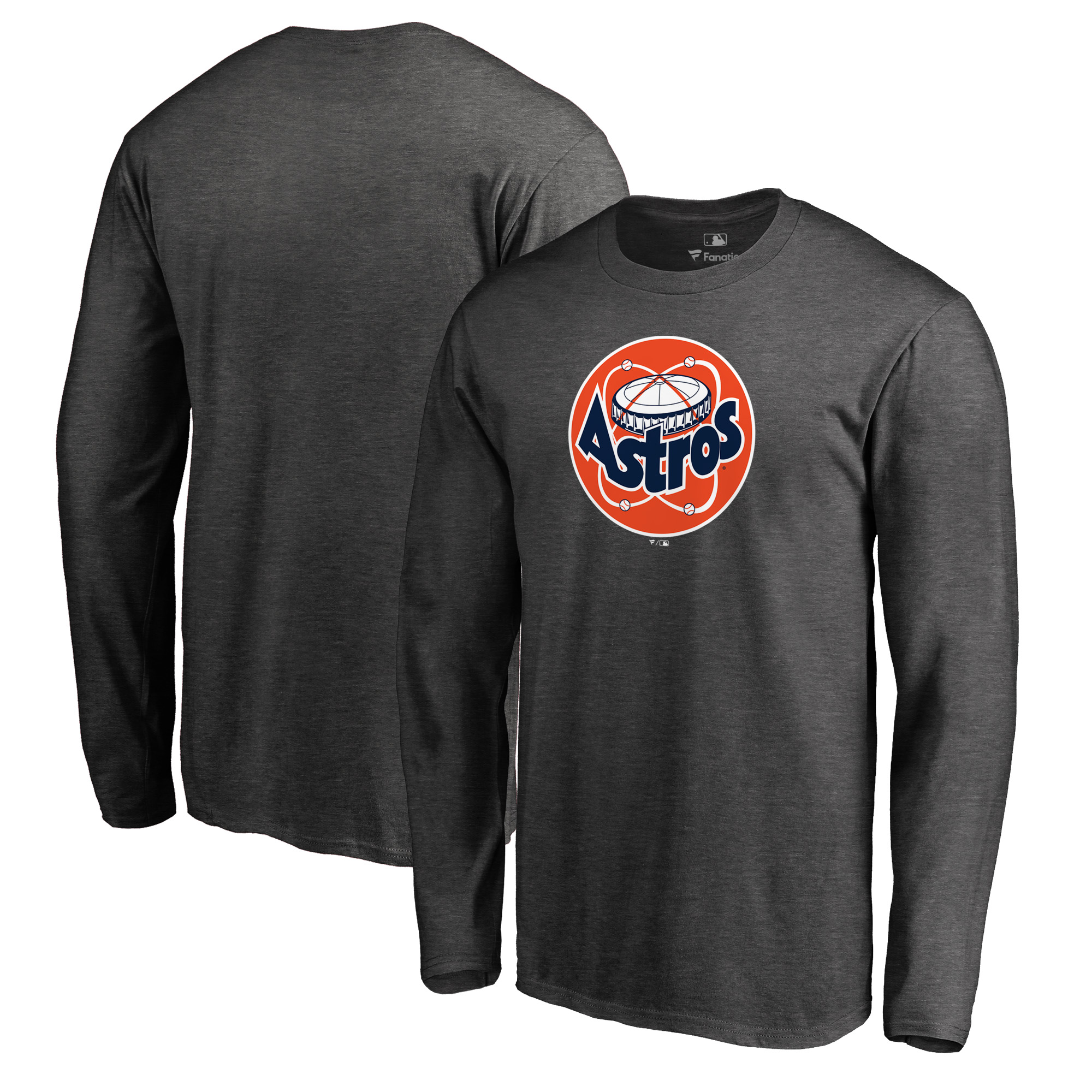 Houston Astros Fanatics Branded Cooperstown Collection Huntington Long Sleeve T-Shirt - Heathered Gray