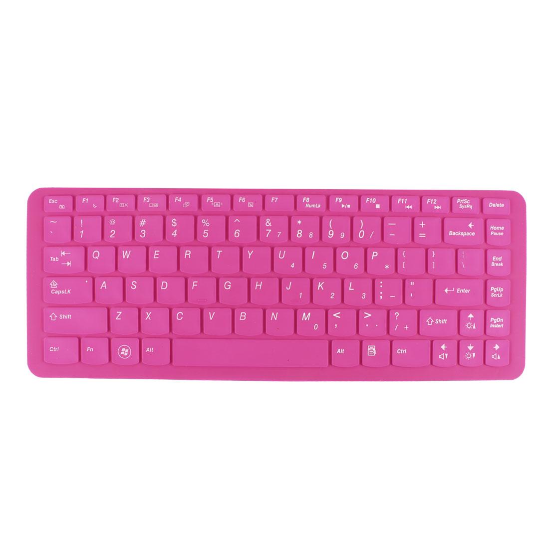 Unique Bargains Laptop Magenta Keyboard Protector Film for Lenovo Y470 B470 Z370 Z360 Z465