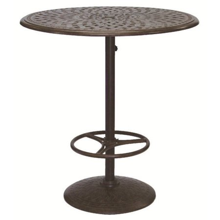 darlee 42 round patio pedestal pub table