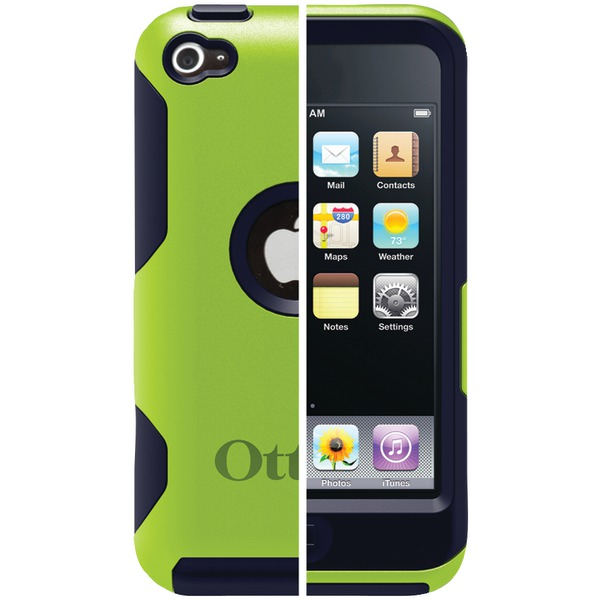 OtterBox Commuter Apple iPod touch 4G - Case for player - silicone, polycarbonate - coal - for Apple iPod touch (4G)