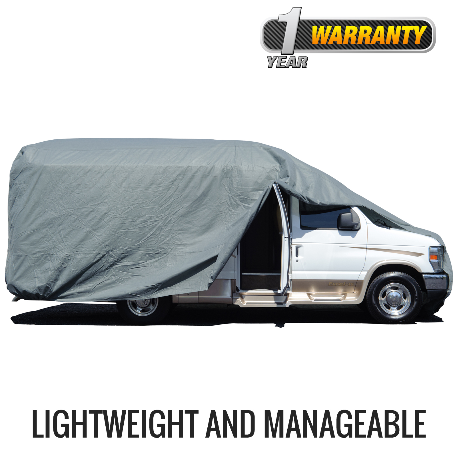Budge Standard Class B RV Cover (Gray) Small Up to 19.5' Long