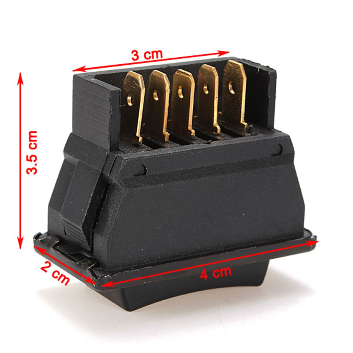 Universal Plastic Direct Current 12V 20A Auto Car Power Window Switch 5 Pins