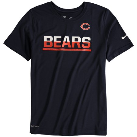 best service 72607 625c7 Chicago Bears Nike Youth Team Practice Performance T-Shirt - Navy
