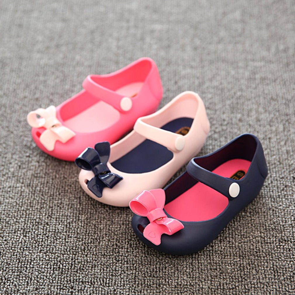 Color:Red Size:25 Children Shoes Bowknot Style Cute and Sweet Buckle Strap Closure Round Toe