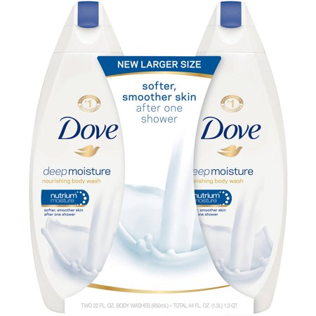 Dove Deep Moisture, Sulfate Free Moisturizing Body Wash, 22 oz, Twin