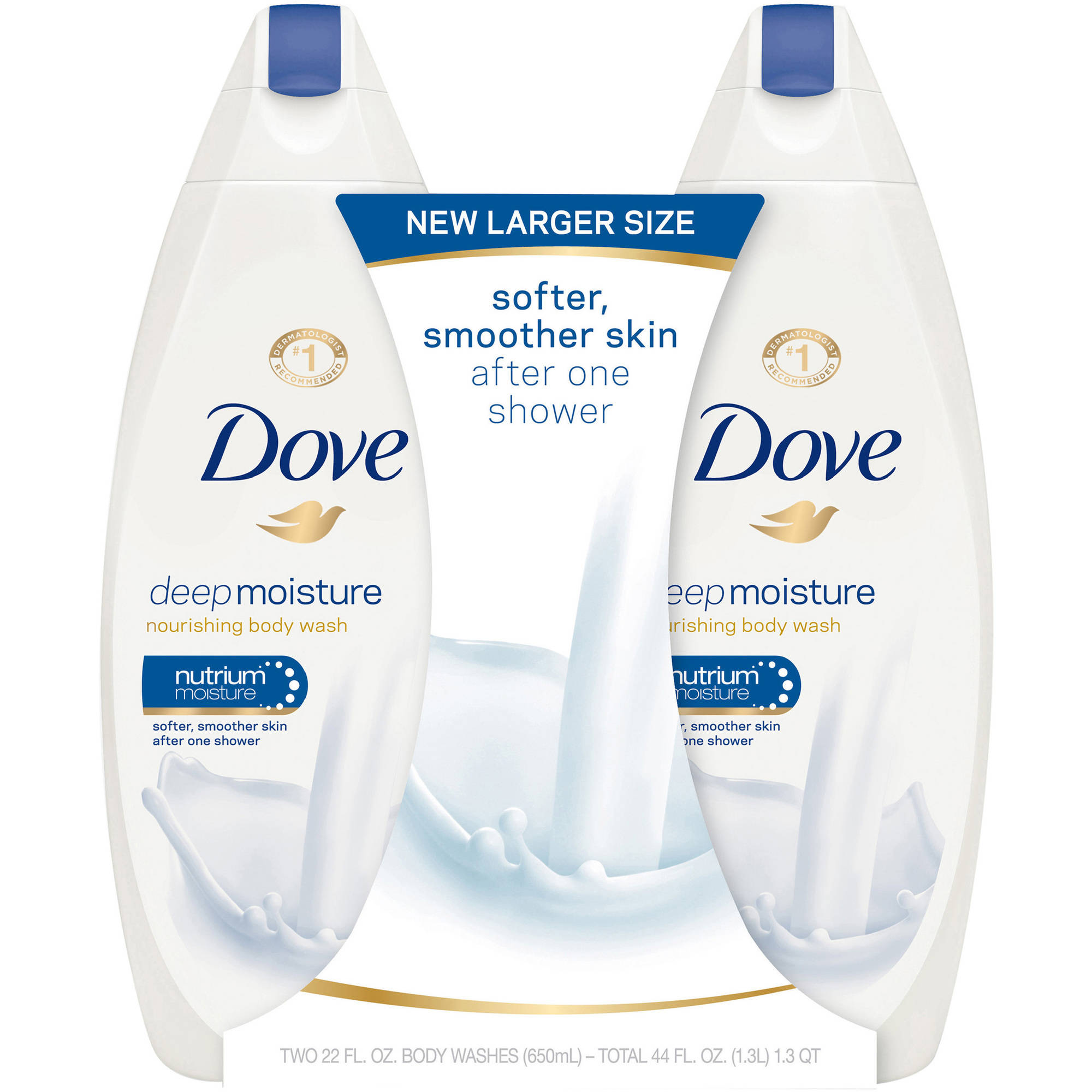 Dove Moisturizing Body Wash, Deep Moisture, Sulfate Free, 22 oz, Twin Pack