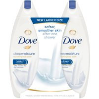 Dove Deep Moisture, Sulfate Free Moisturizing Body Wash, 22 oz, Twin Pack