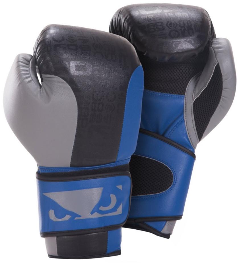 Bad Boy Legacy Boxing Gloves - Black/Blue/Gray