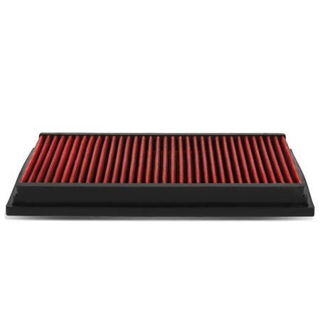 For 92-11 Lincoln Town Car / Mercury Grand Marquis Reusable & Washable Replacement High Flow Drop-in Air Filter (Red)