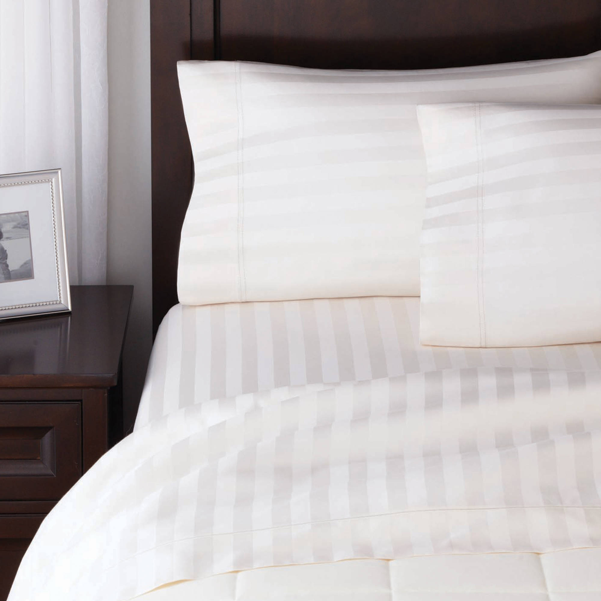 Better Homes and Gardens 400 Thread Count Egyptian Cotton Damask Flexi-Fit Sheet Set