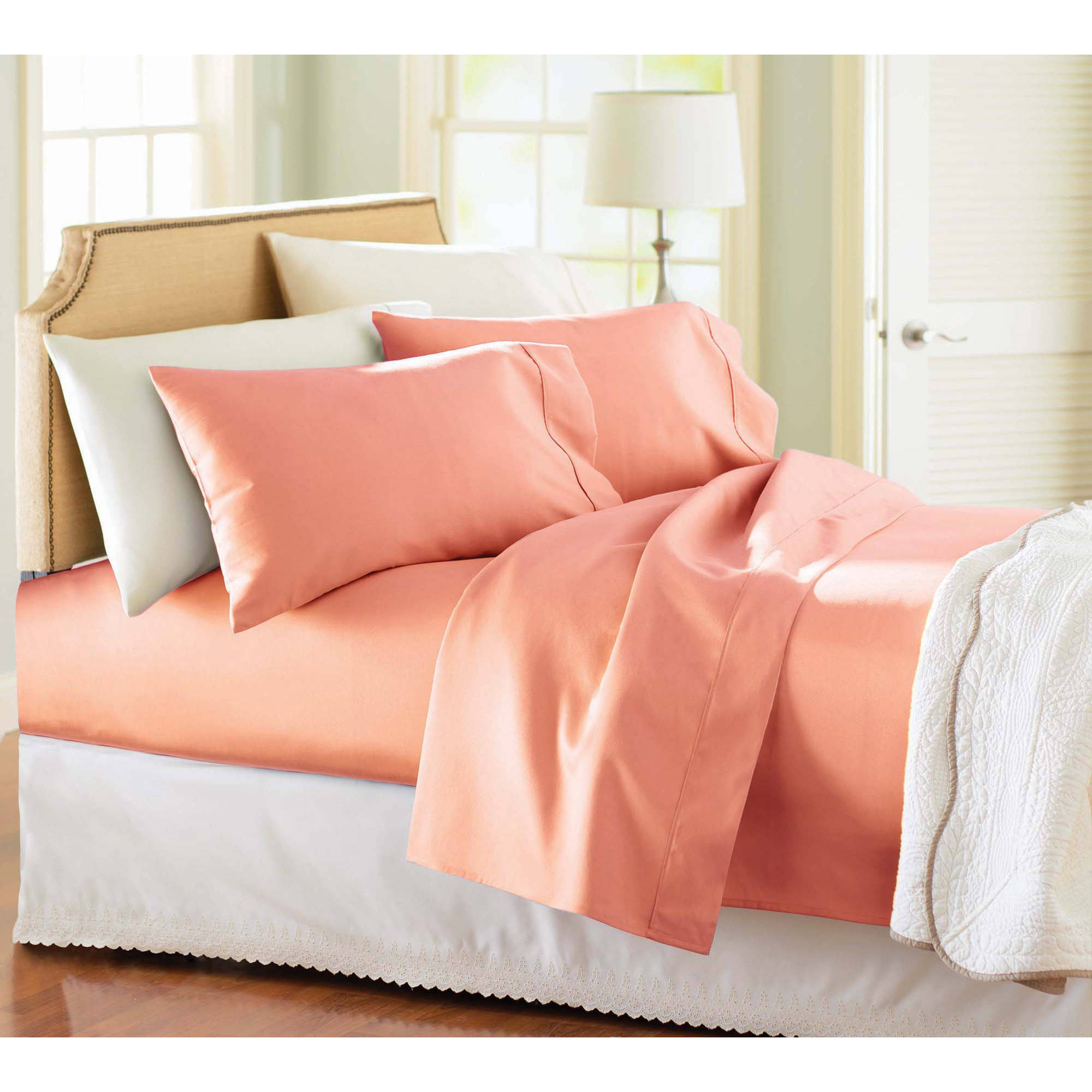 Better Homes And Gardens 300 Thread Count Wrinkle Free Sheet Set    Walmart.com
