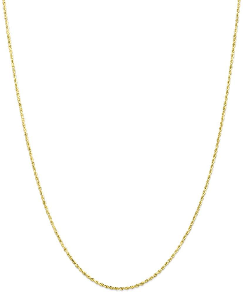 ICE CARATS 10kt Yellow Gold 1.5mm Link Rope Chain Necklace 22 Inch Pendant Charm Handmade Fine Jewelry Ideal Gifts For... by IceCarats Designer Jewelry Gift USA