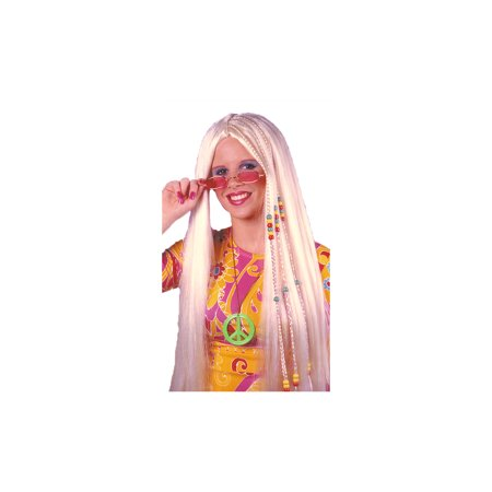 Braided Hippie Blonde Adult Halloween Wig